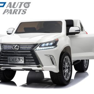 Official Licensed Lexus LX570 Ride On Car for Kids 2 Seats White 4x4-0