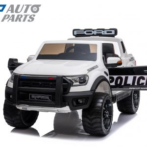 Ford Ranger POLICE VERSION Electric Kids Ride on Car Truck Children Toy Remote White -0
