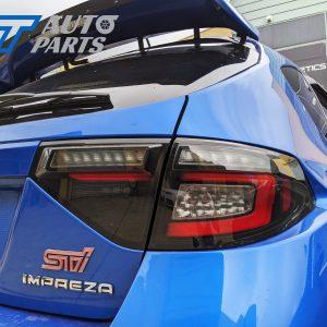 Black Edition R Dynamic Indicator LED Tail light for 08-13 Subaru Impreza WRX RS STI -0