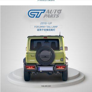 Black LED Tail Lights Dynamic Indicator for 18-20 Suzuki JIMNY Rear Lamp Rear Tail light-0