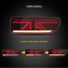 Black LED Tail Lights Dynamic Indicator for 18-20 Suzuki JIMNY Rear Lamp Rear Tail light-12033