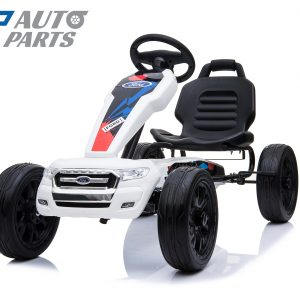Ford Ranger Kids GO KART Racing Car Ride on Toy Car Children Bike White-12447