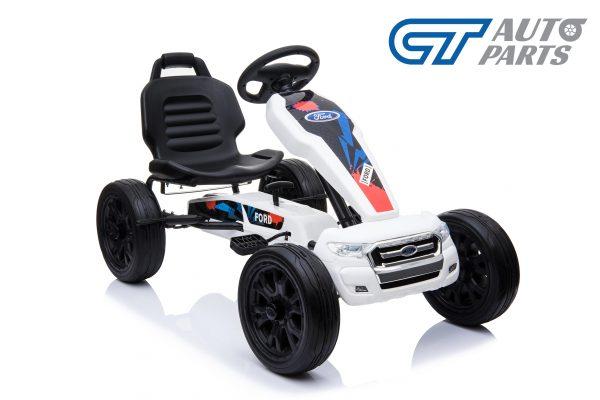 Ford Ranger Kids GO KART Racing Car Ride on Toy Car Children Bike White-12451