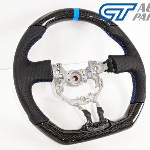 CARBON Fibre LEATHER Steering Wheel Blue Line+Stitching for 12-16 TOYOTA 86 Subaru BRZ-0