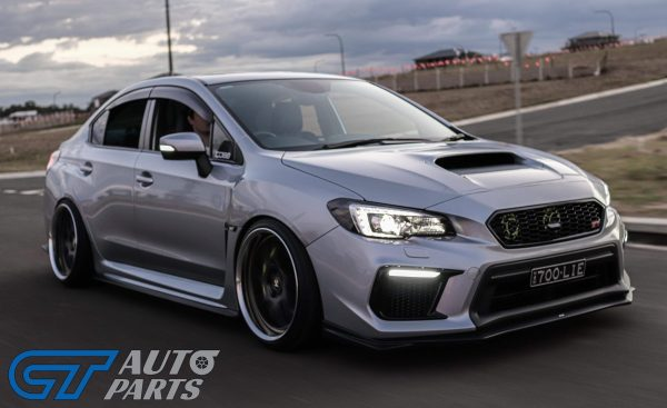 JDM-Style Badgeless Front Grille (ABS Gloss Black) for MY18-20 SUBARU WRX / STI-13954