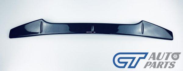 Rowen Style Carbon Fiber Gurney Flap For 08-14 Subaru WRX STI Trunk Spoiler-14073