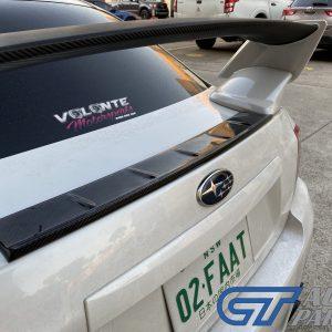 CARBON CFRP Rear Trunk COVER Plate for MY08-14 Subaru Impreza WRX G3 Sedan-0