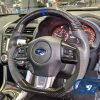 Carbon Fibre LEATHER Steering Wheel BLUE Line BLUE Stitching for 2014-2020 SUBARU WRX / STI / LEVORG-14642