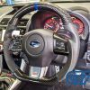 Carbon Fibre LEATHER Steering Wheel BLUE Line BLUE Stitching for 2014-2020 SUBARU WRX / STI / LEVORG-0