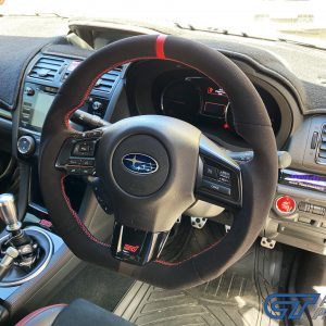 Alcantara Steering Wheel (Red Line / Red Stitching) for MY15-MY20 Subaru WRX/STI LEVORG for DANIEL -0