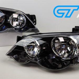 Sports Version Black Head Lights for 02-06 Ford Falcon BA BF XXR6 XR8 Farimont FPV Sedan Ute-0
