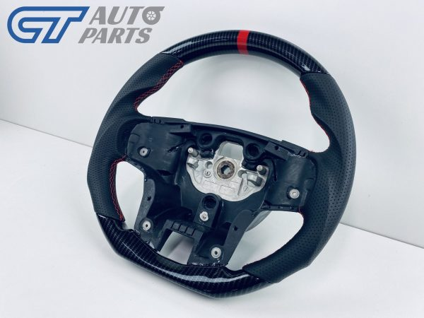 Carbon LOOKS LEATHER Steering Wheel Red Line+Stitching for 2015-2020 Ford Ranger PX2 PX3 WildTrack Raptor-14335