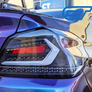 V5 Black White Bar Full LED Tail lights Dynamic Indicator for 2015-2020 Subaru WRX/ WRX STI VA-0