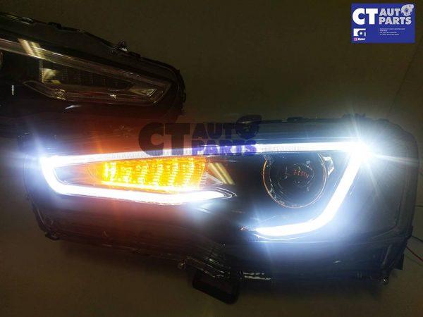 3D Neon LED DRL Bar Projector HeadLights for 07-17 Mitsubishi Lancer CJ EVO X-14768