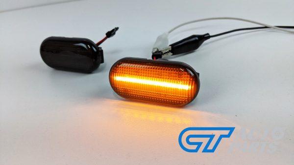 Smoke LED side indicators side marker fender lights for 04-19 Nissan NAVARA D40 -14930