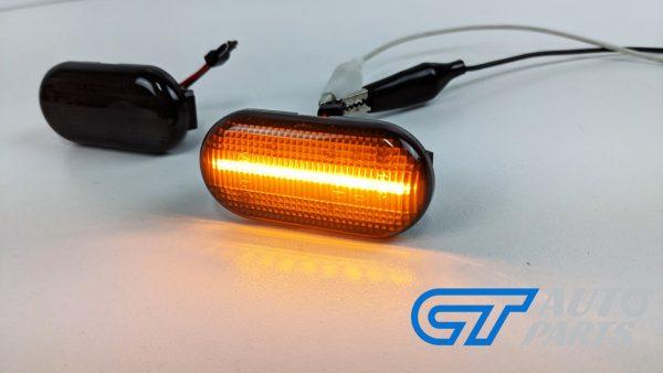 Smoke LED side indicators side marker fender lights for 04-19 Nissan NAVARA D40 -14931