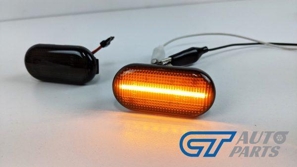 Smoke LED side indicators side marker fender lights for 04-19 Nissan NAVARA D40 -14932