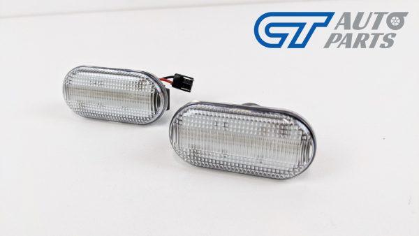 Clear LED side indicators side marker fender lights for 04-19 Nissan NAVARA D40 -0