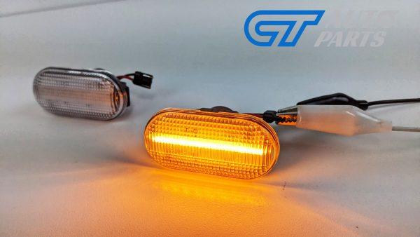 Clear LED side indicators side marker fender lights for 04-19 Nissan NAVARA D40 -14940