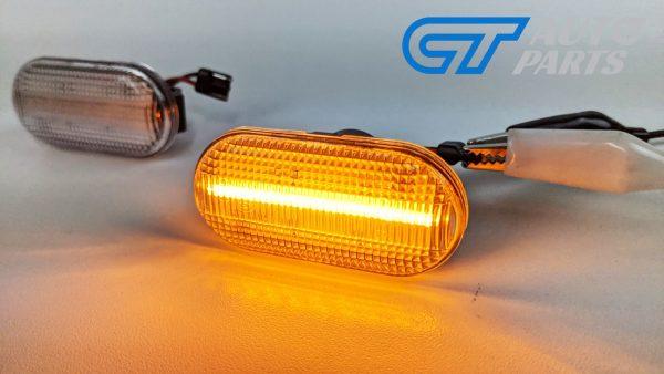 Clear LED side indicators side marker fender lights for 04-19 Nissan NAVARA D40 -14941